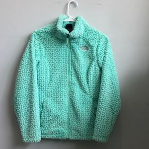 The North Face Girls Laurel Fleece Surf Green